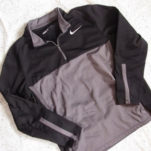 NIKE Golf Black and Gray Quarter Zip